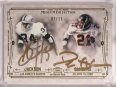 2014 Topps Museum Collection Bo Jackson & Deion Sanders autograph #D07/15 *55086