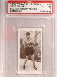 1938 Churchman's Cigarettes Boxing Gene Tunney #35 PSA 8 *67415