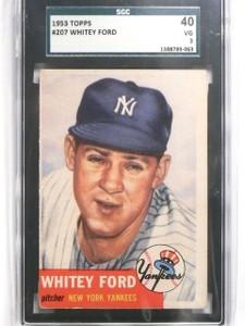 1953 Topps Whitey Ford #207 SGC 40 = 3 VG Yankees *63824