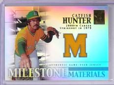 2002 Topps Tribute Milestone Materials Catfish Hunter Jersey #MMCH  *61364