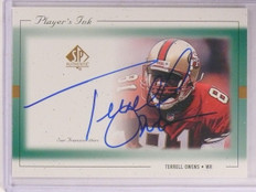 1999 Sp Authentic Player's Ink Terrell Owens autograph auto #To-A *67599