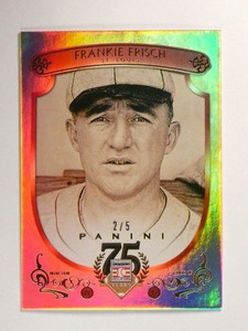 2014 Panini Hall of Fame Red Frame Gold Frankie Frisch #D2/5 #50 *46741