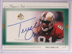 1999 Sp Authentic Player's Ink Terrell Owens autograph auto #To-A *67498
