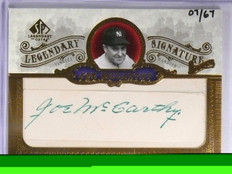 2006 Sp Legendary Cuts Joe Mccarthy autograph auto #D07/67 Yankees *57873