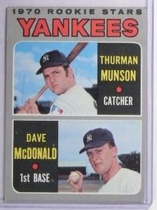 1970 Topps Thurman Munson Rookie RC #189 VG *65210