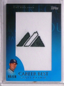 2009 Topps Career Best Scott Kazmir Majestic jumbo patch #D06/10 *55221
