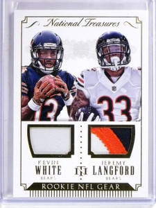 2015 National Treasures Kevin White Jeremy Langford RC Patch Jersey #D10/25 *567