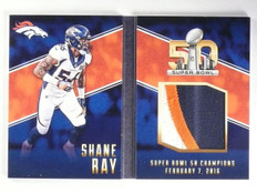 2016 Panini Preferred Super Bowl Booklet Shane Ray Patch #D18/25 #18 *65354
