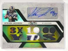 2008 Topps Triple Threads Steven Jackson autograph auto patch #D1/3 *50024