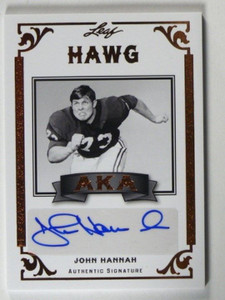 2012 Leaf Legends of Sport John Hannah auto autograph #AKA-JH1 *40245