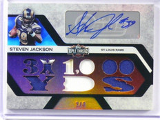 2008 Topps Triple Threads Steven Jackson auto autograph jersey patch #D2/4 *3914