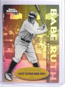 1999 Fleer Sports Illustrated Record Breakers Gold Babe Ruth #3of10RB *58516