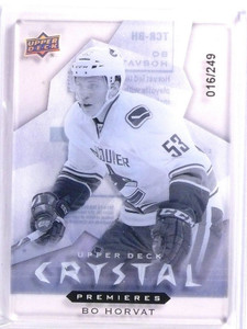 2014-15 UD Trilogy Bo Horvat Crystal Level 2 Rookie RC #D016/249 #TCRBH *53675