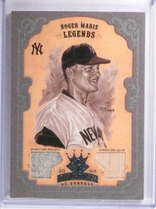 2004 Donruss Diamond Kings Silver Framed Roger Maris bat & jersey #D08/10 *58525