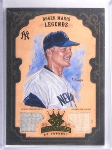 2004 Diamond Kings Framed Gold Roger Maris jersey bat #D2/5 #170 *57856