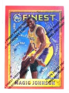 1995-96 Topps Finest Magic Johnson Refractor #252 *56746