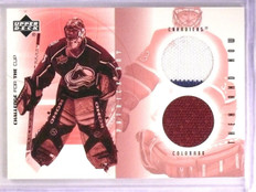 2001-02 UD Challenge For The Cup Patrick Roy Dual Jersey Then Now #TNPR *55608