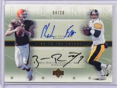 2005 Upper Deck Legends Link Ben Roethlisberger & Frye auto autograph #D04/20 *3