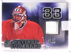 2015-16 ITG Enshrined Patrick Roy Retired Numbers Jersey #D6/35 #RN28 *55445