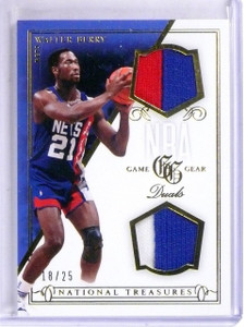 2013-14 National Treasures Walter Berry Game Gear Dual Jersey Patch #D18/25 *567
