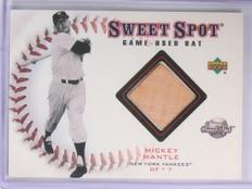 2001 Upper Deck Sweet Spot Mickey Mantle game used bat #B-MM Yankees *57844