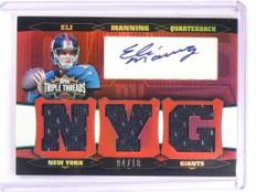2006 Topps Triple Threads Eli Manning autograph auto jersey #D04/18  *52444