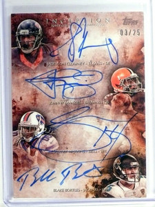 2014 Topps Inception Clowney Manziel Watkins Bortles autograph rc #D03/25 *49261