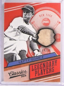 2014 Panini Classics Legendary Players Lefty Gomez jersey #D64/99 #22 *67569