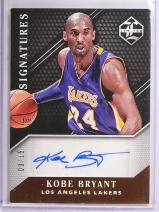 2015-16 Panini Limited Signatures Kobe Bryant autograph auto #D09/15 *55098
