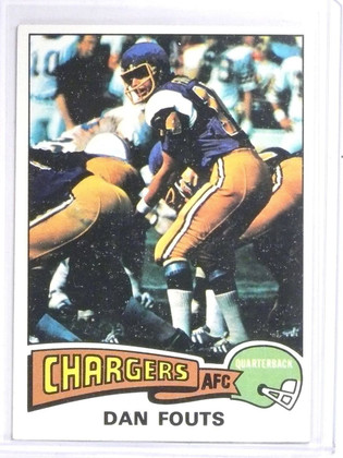 1975 Topps Dan Fouts Rookie RC #367 EXMT *60684
