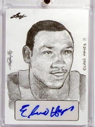 2015 Leaf Sports Masterworks Elvin Hayes autograph auto sketch 1/1 *48362