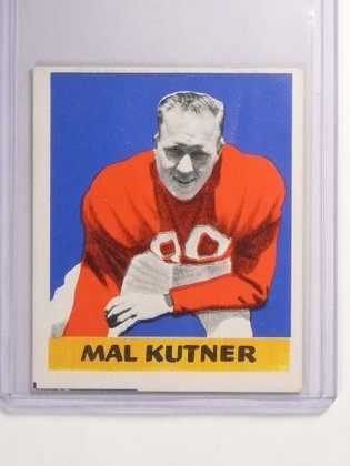1948 Leaf Football Mal Kutner #14 rc rookie VG-EX *52331