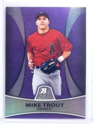 2010 Bowman Platinum Purple Mike Trout rc rookie #PP5 *68085