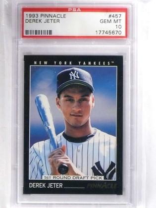 1993 Pinnacle Derek Jeter rc rookie #457 PSA 10 GEM MINT Yankees *68814