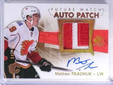 2016-17 Sp Authentic Matthew Tkachuk autograph patch rc #D45/100 #150 *68873