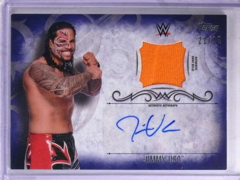 2016 Topps WWE Undisputed Jimmy Uso autograph auto shirt #D21/25 *68936