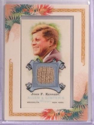 SOLD 15690 2006 Topps Allen & Ginter John F. Kennedy Sweater #AGR-JFK sp/350 *69222