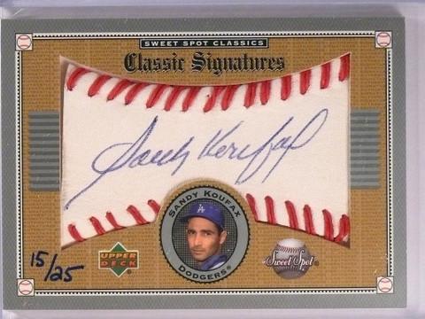 2002 Sweet Spot Classic Signatures Gold Sandy Koufax autograph #D15/25 *50487