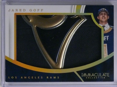 2016 Panini Immaculate Hats Jared Goff Rookie Hat Patch #D4/4 #JG *65146