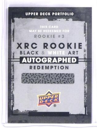 2015-16 Upper Deck Portfoilio Black & White autograph redemption rookie #3 *5731