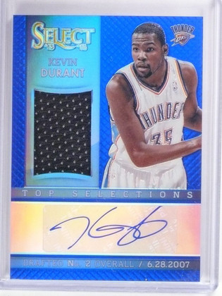 2013-14 Panini Select Selections Blue Kevin Durant autograph jersey #D18/20 *563