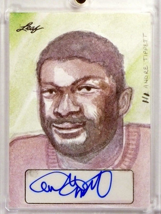 2015 Leaf Sports Masterworks Andre Tippett autograph auto Sketch 1/1 *48375