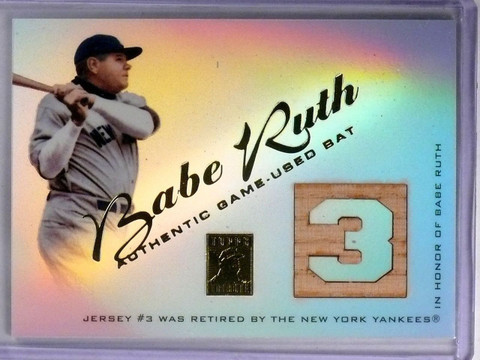 SOLD 11660 2001 Topps Tribute Retired Numbers Stencil Babe Ruth bat #RB-BR Yankees *57749