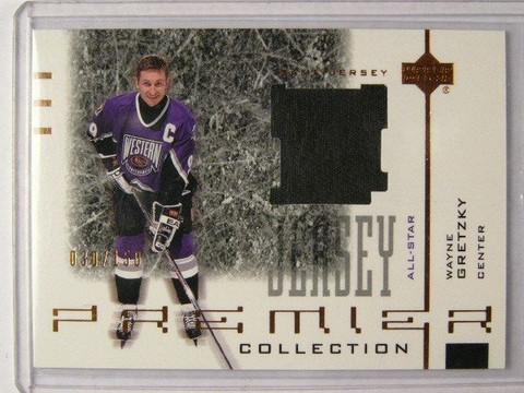 01-02 UD Premier Wayne Gretzky Black jersey #D30/150 *31411