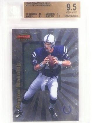1998 Bowman's Best Peyton Manning rc rookie #112 PSA 9.5 GEM MINT *53570