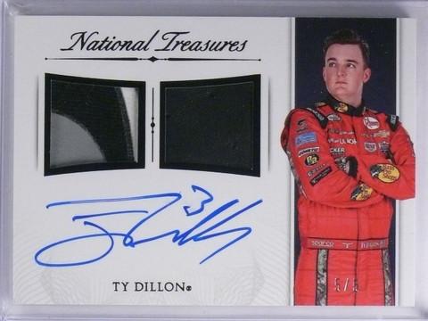 2016 National Treasures Ty Dillon Dual Patch Autograph #D5/5 #SDMTD *65225