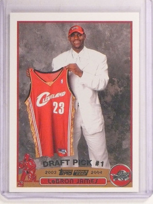 2003-04 Topps Lebron James rc rookie #221 Cavs *67413