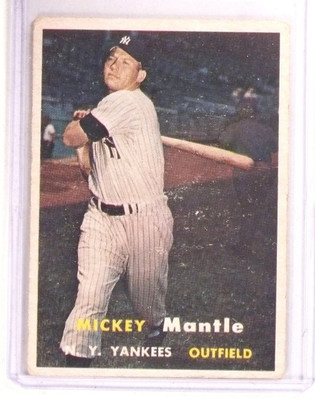 1957 Topps Mickey Mantle #95 VG *67348