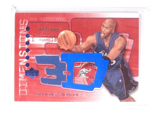 03-04 Uper Deck 3-D Dimensions Michael Jordan jersey #D42/999 #3DW36 *52142