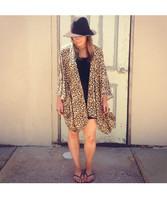 Frankie & Dandelion Leopard Print Kimono